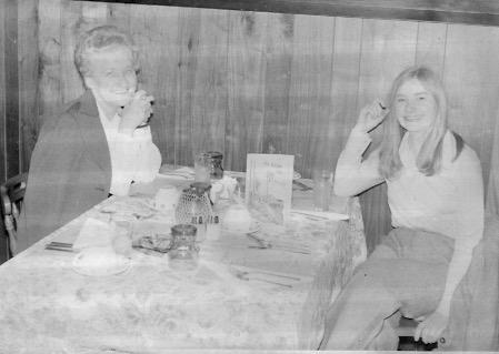 Mom and Gery at Cedar Inn